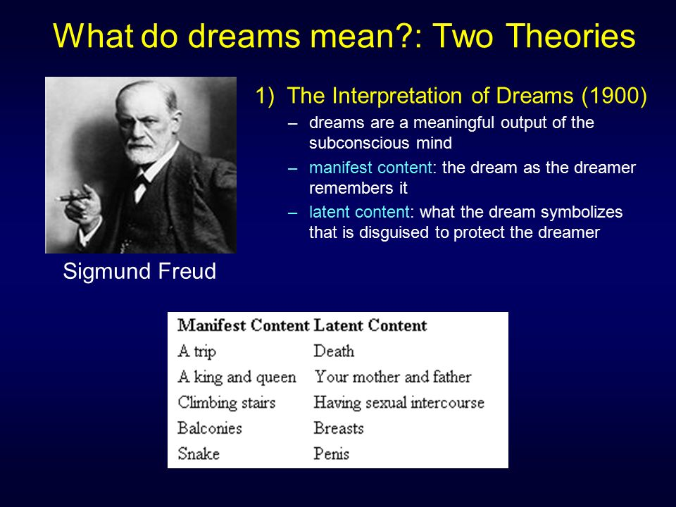 Two theoretical perspectives on dream analysis