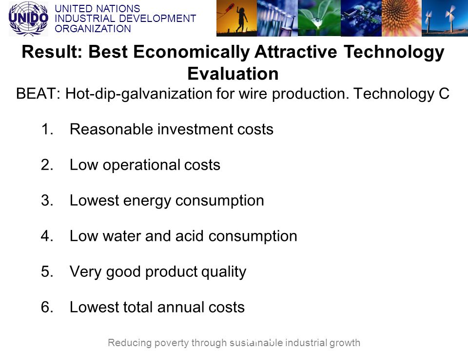 Result: Best Economically Attractive Technology Evaluation