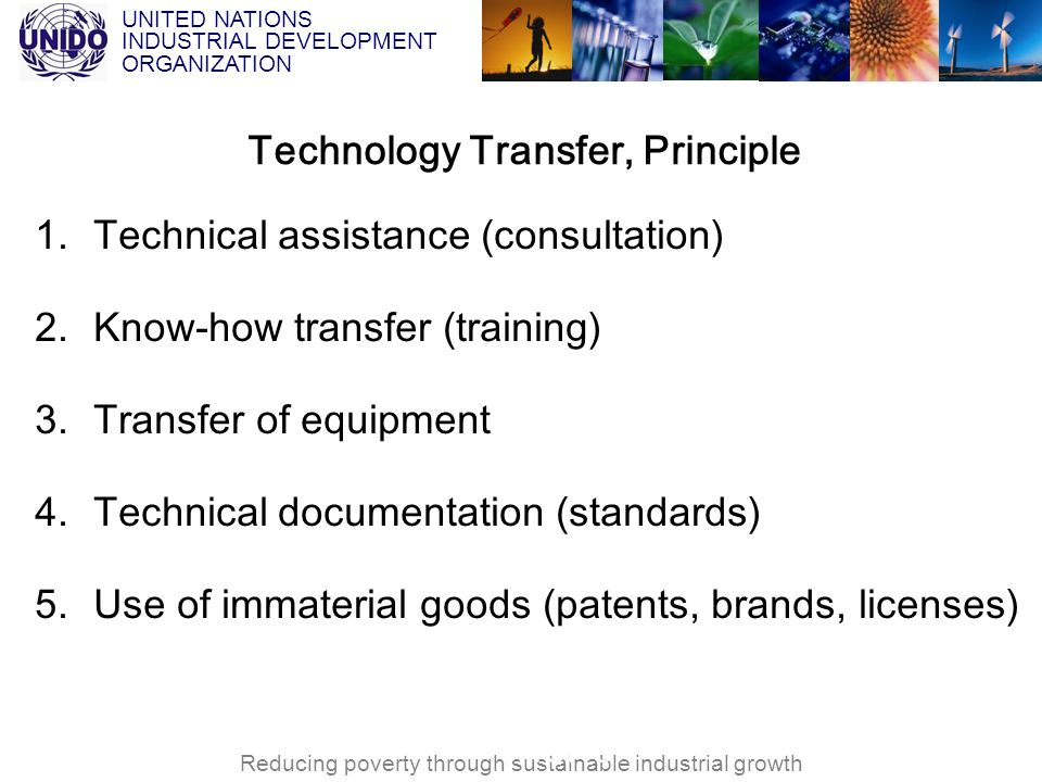 Technology Transfer, Principle