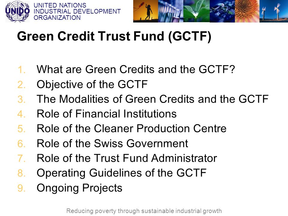 Green Credit Trust Fund (GCTF)
