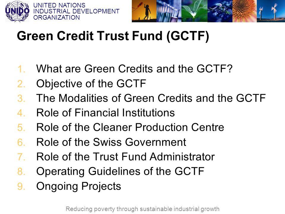 Green Credit Trust Fund (GCTF)