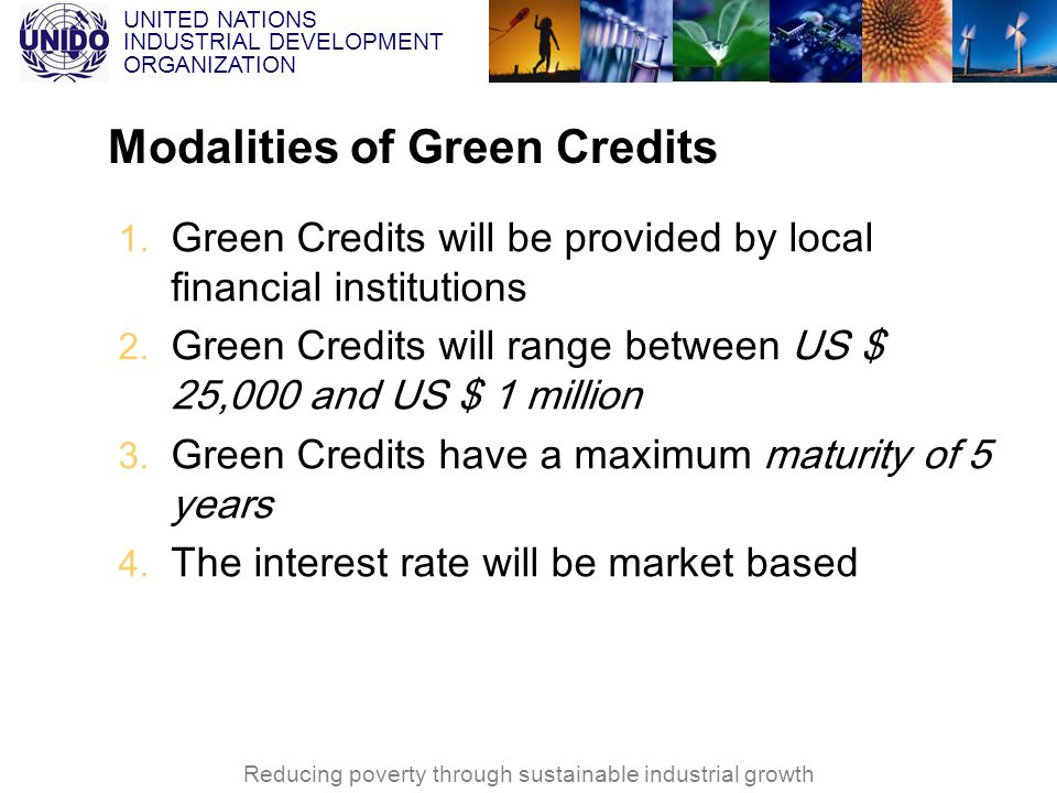 Modalities of Green Credits