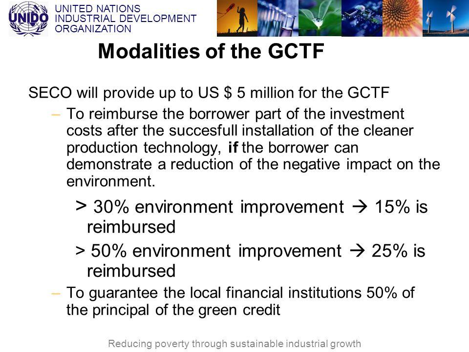 > 30% environment improvement  15% is reimbursed