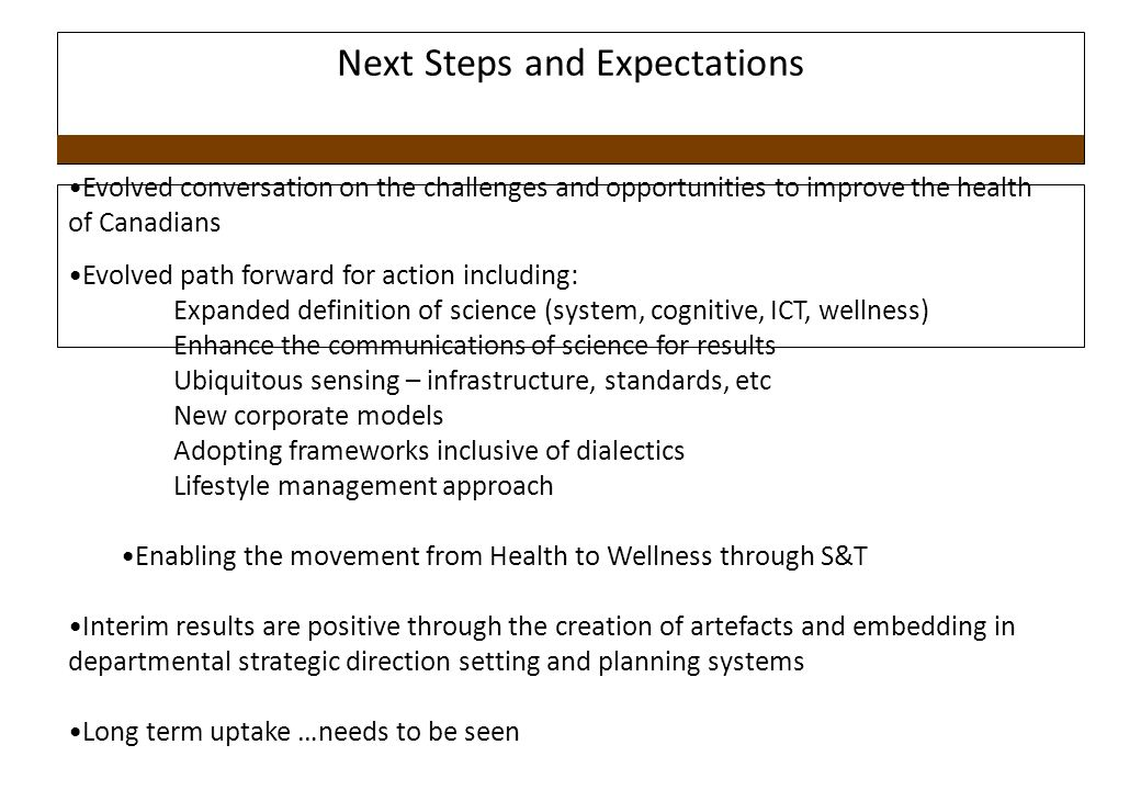 Next Steps and Expectations