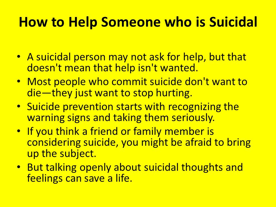 How to Help a Suicidal Family Member
