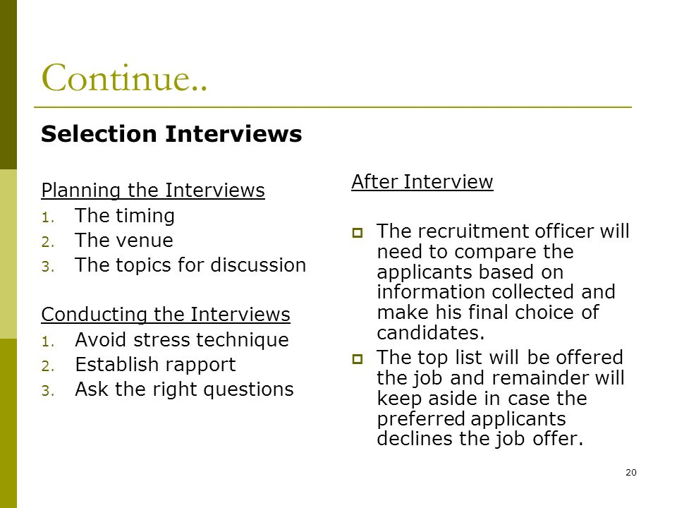 selection interviews after interview - After Job Offer Questions To Ask