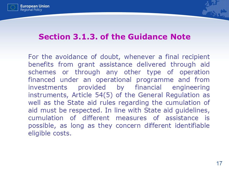 Section 3.1.3. of the Guidance Note