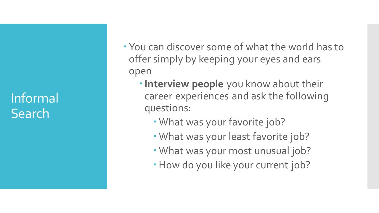 8 you - Do You Like Your Job What Do You Like About Your Job Or Least Like