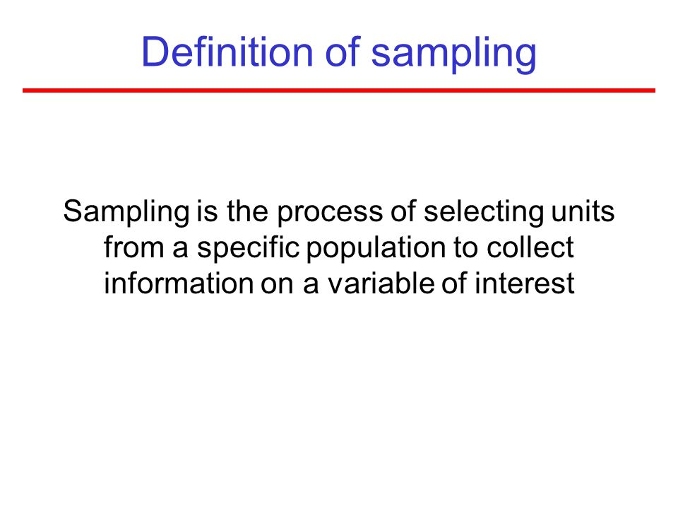 Definition of sampling