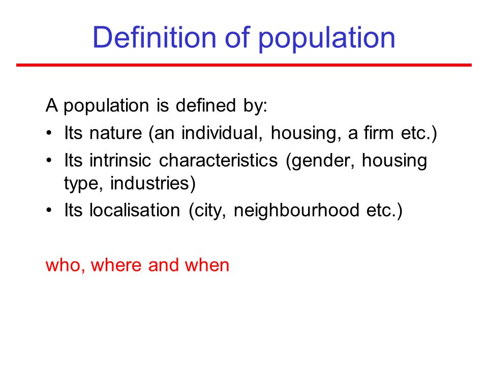 Definition of population
