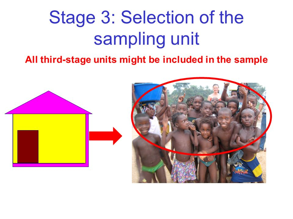 All third-stage units might be included in the sample