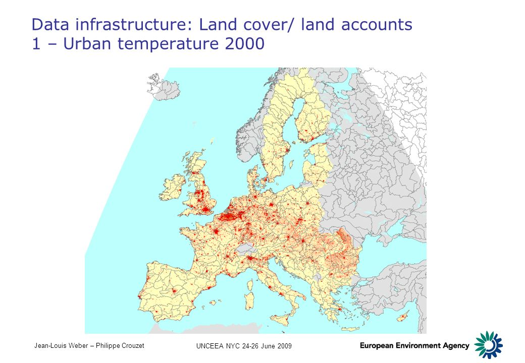 Data infrastructure: Land cover/ land accounts 1 – Urban temperature 2000