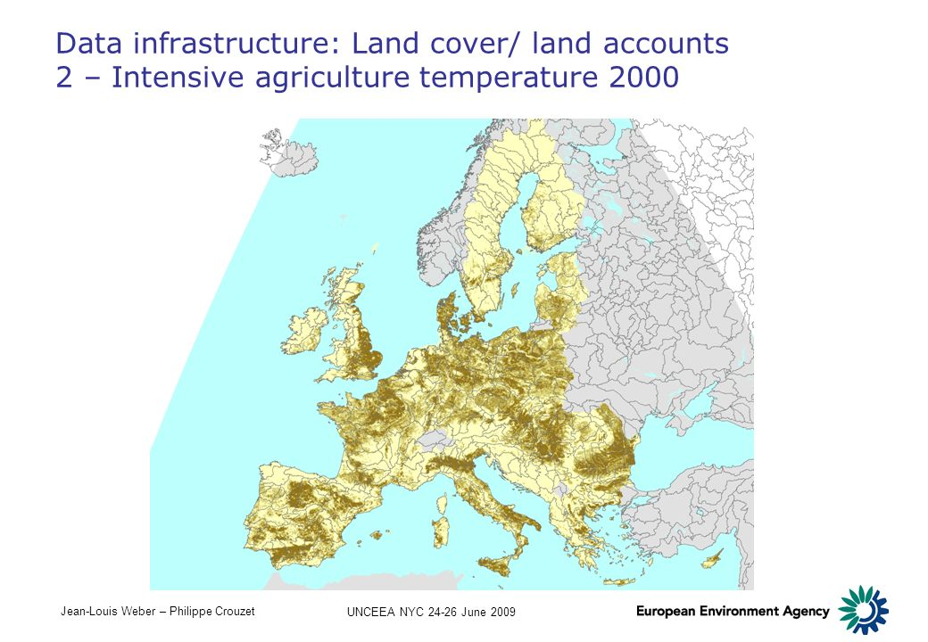 Data infrastructure: Land cover/ land accounts 2 – Intensive agriculture temperature 2000