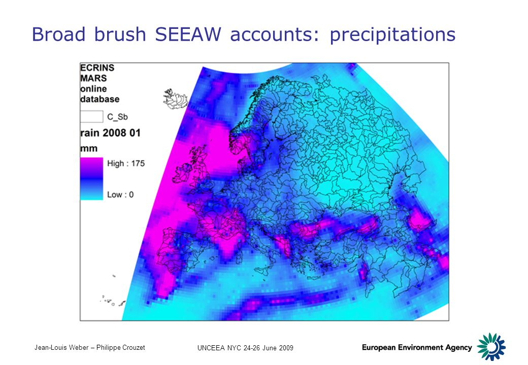 Broad brush SEEAW accounts: precipitations