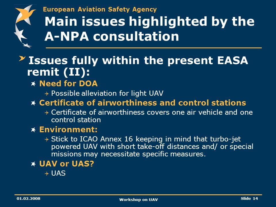Main issues highlighted by the A-NPA consultation