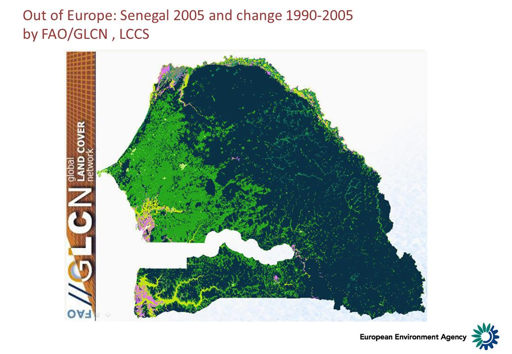 Out of Europe: Senegal 2005 and change 1990-2005 by FAO/GLCN , LCCS