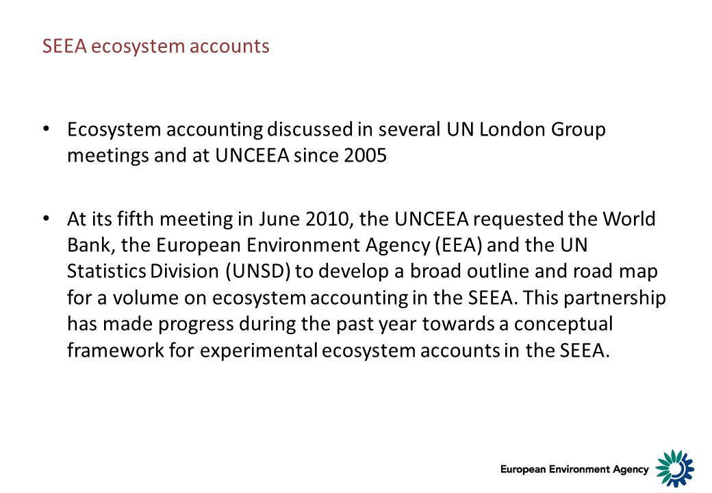 SEEA ecosystem accounts