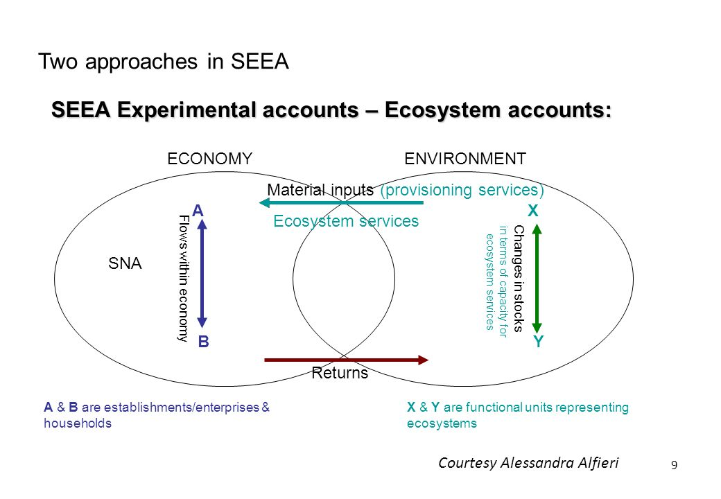 SEEA Experimental accounts – Ecosystem accounts: