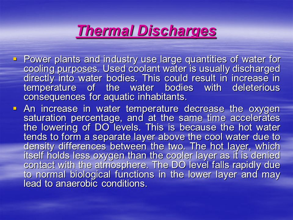 Thermal Discharges