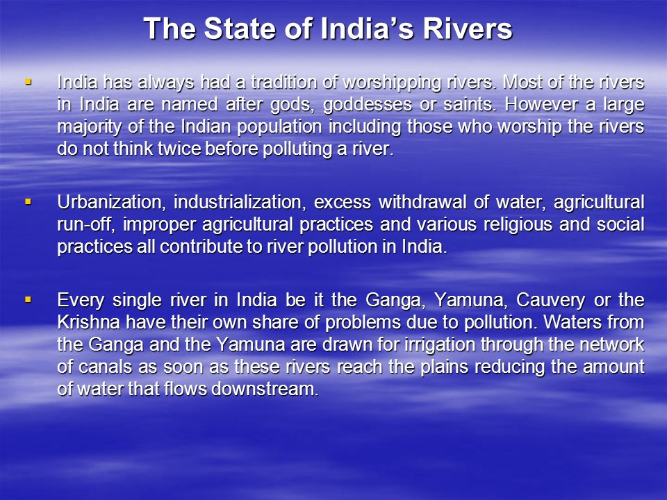 The State of India's Rivers