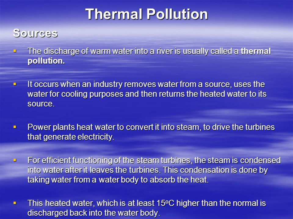 Thermal Pollution Sources