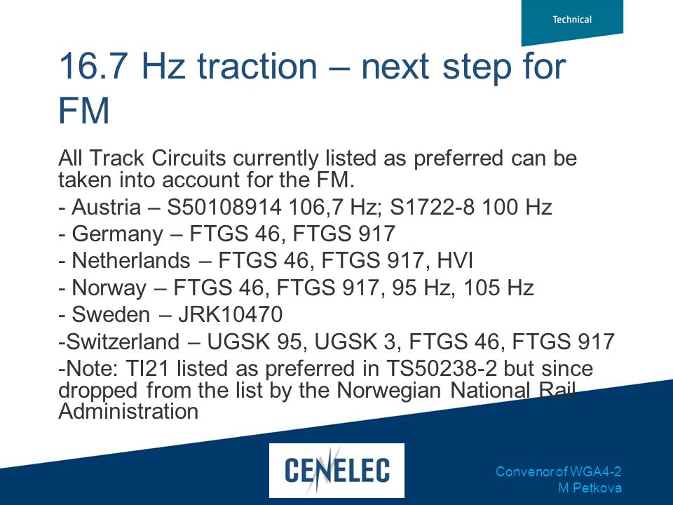 16.7 Hz traction – next step for FM