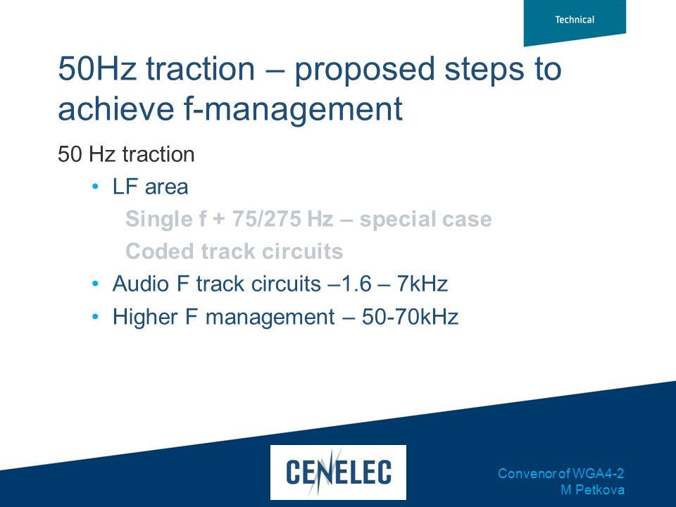 50Hz traction – proposed steps to achieve f-management