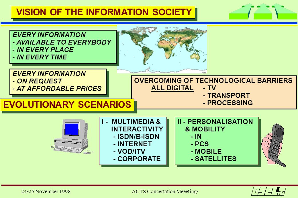 VISION OF THE INFORMATION SOCIETY EVOLUTIONARY SCENARIOS