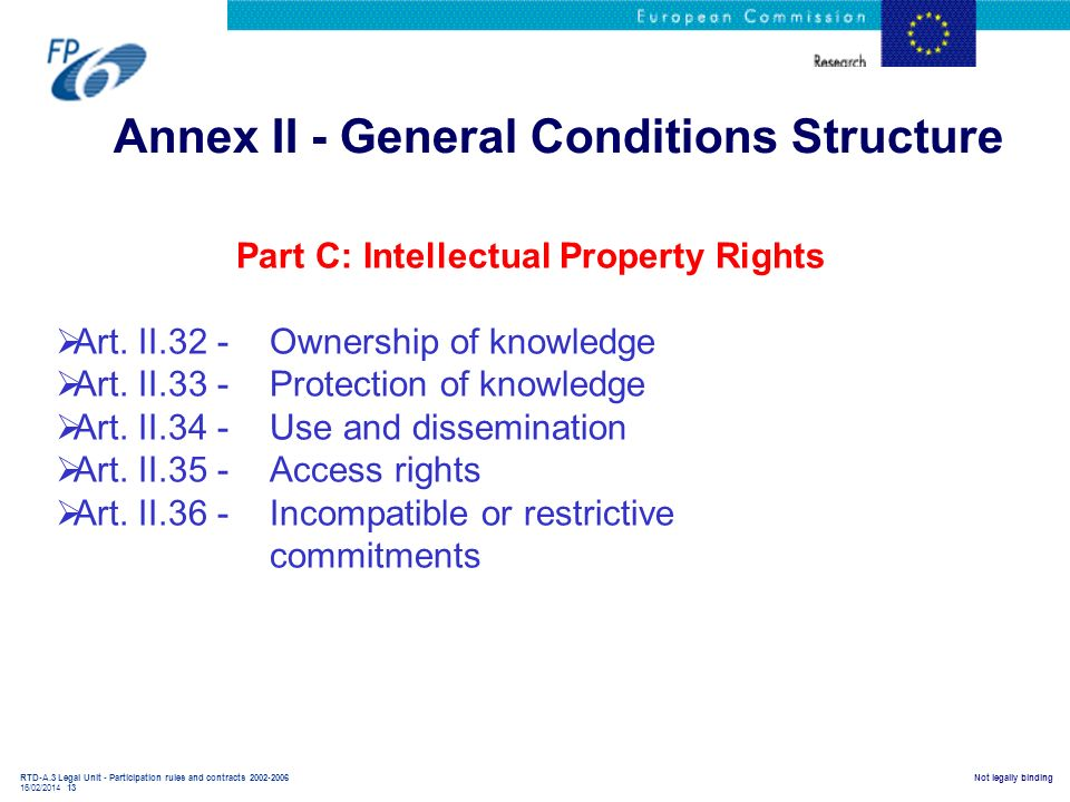 Annex II - General Conditions Structure