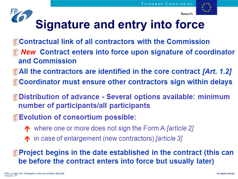 Signature and entry into force