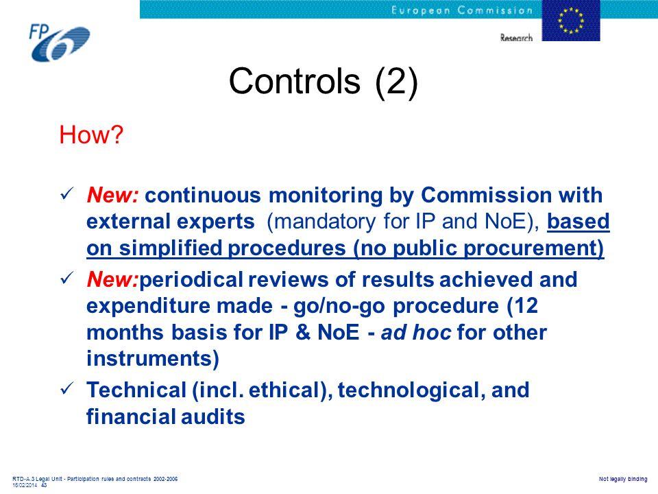 Controls (2) How