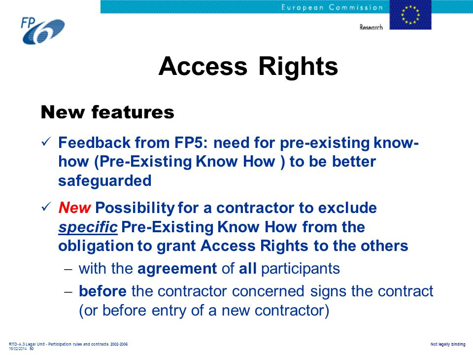 Access Rights New features