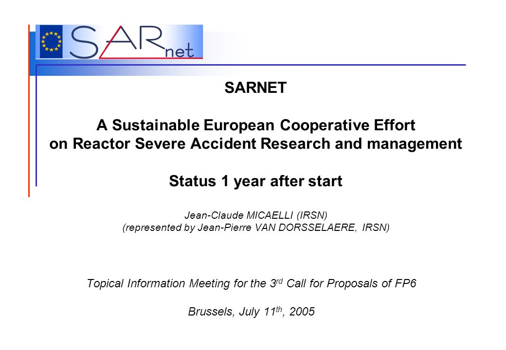 Topical Information Meeting for the 3rd Call for Proposals of FP6
