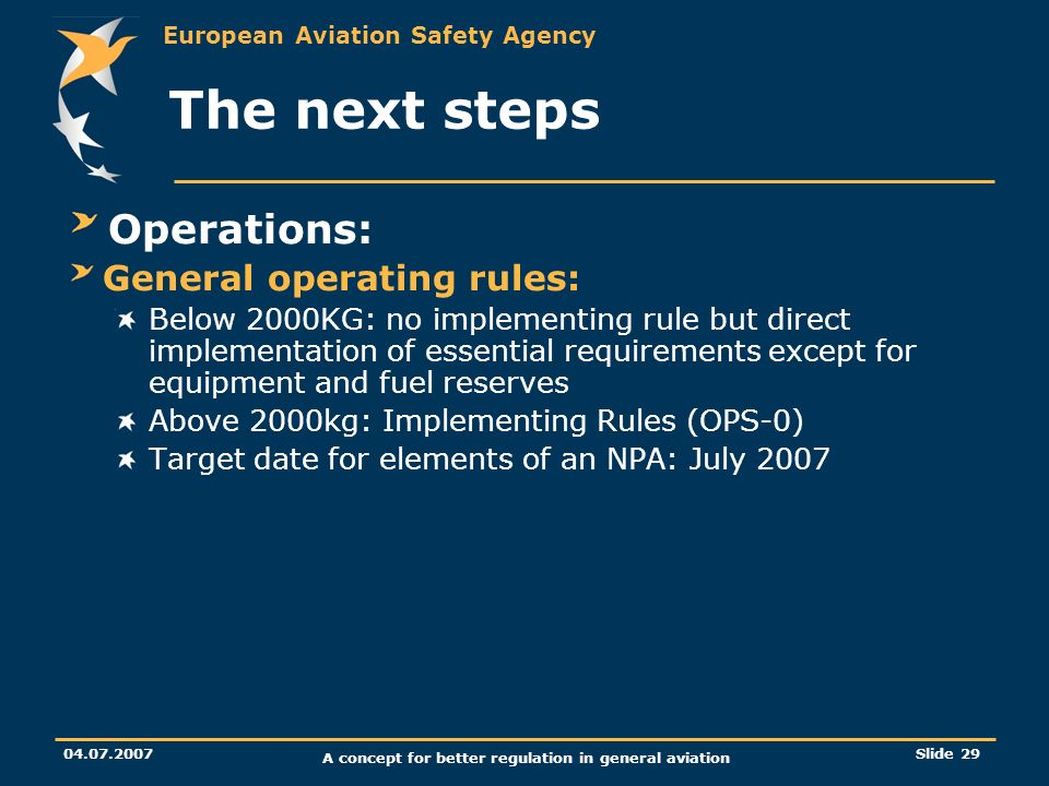 A concept for better regulation in general aviation