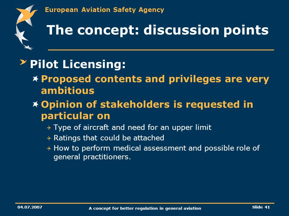 The concept: discussion points