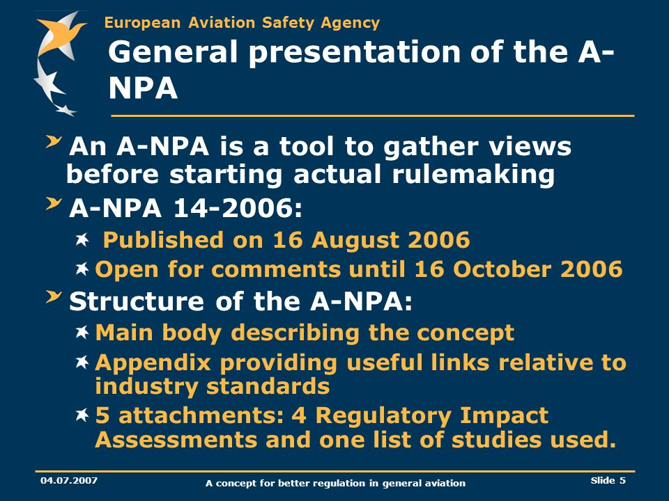 General presentation of the A-NPA