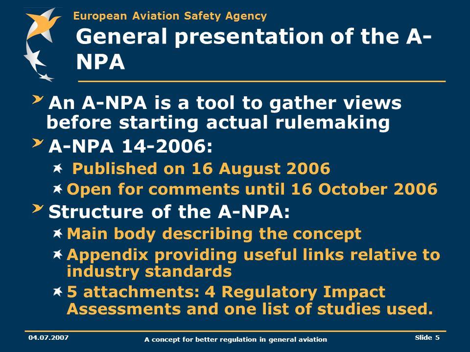 General presentation of the A-NPA