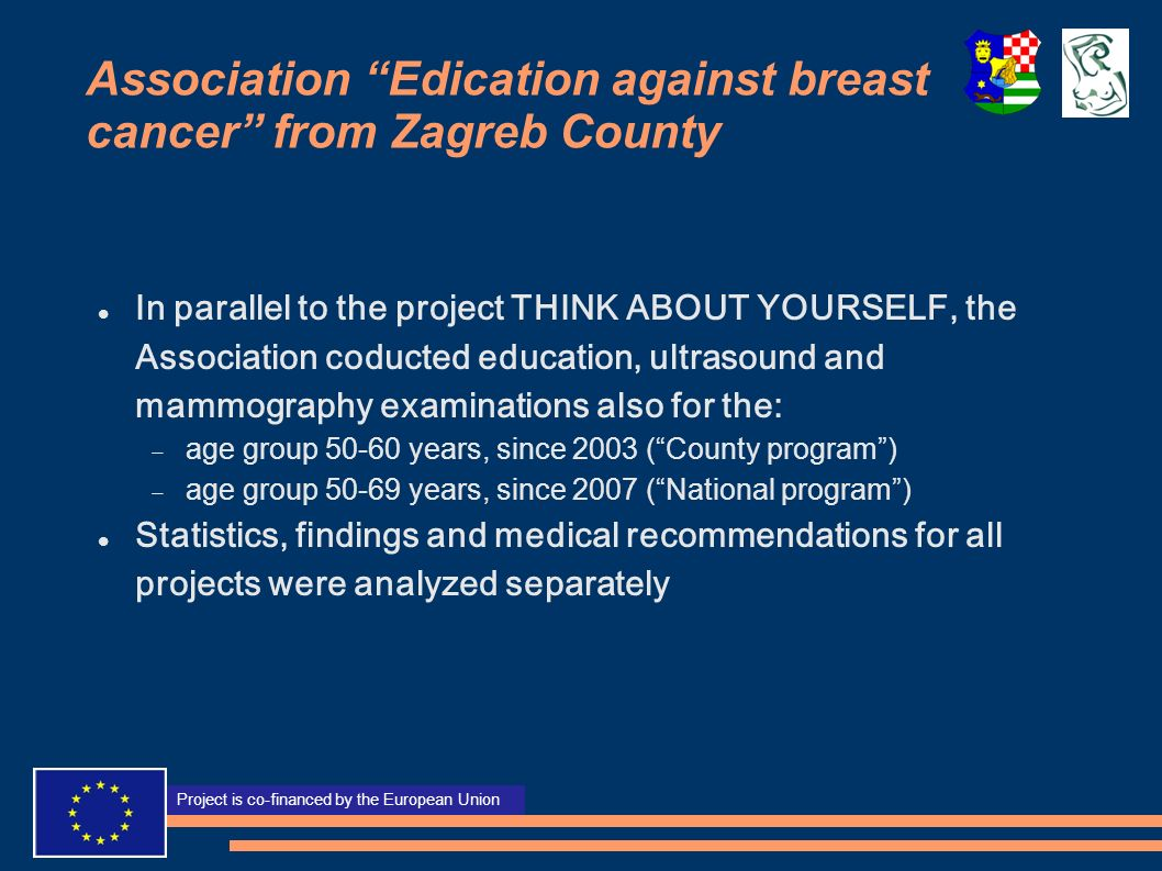 Association Edication against breast cancer from Zagreb County