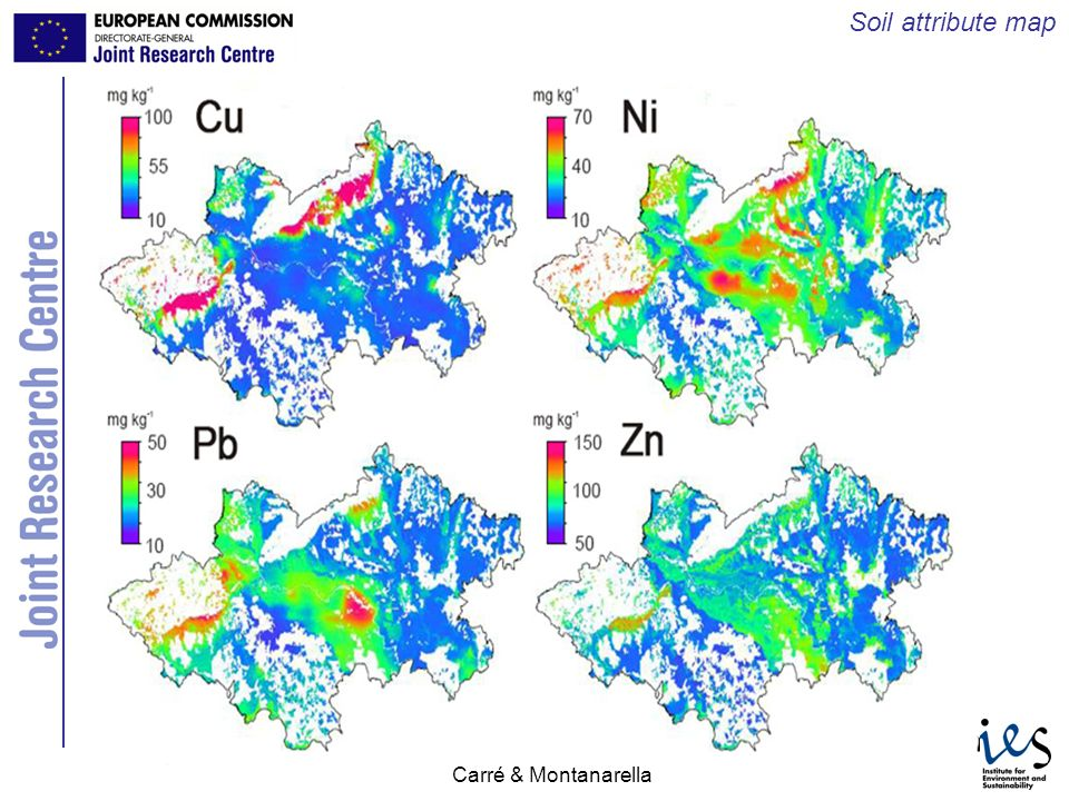 Soil attribute map Carré & Montanarella