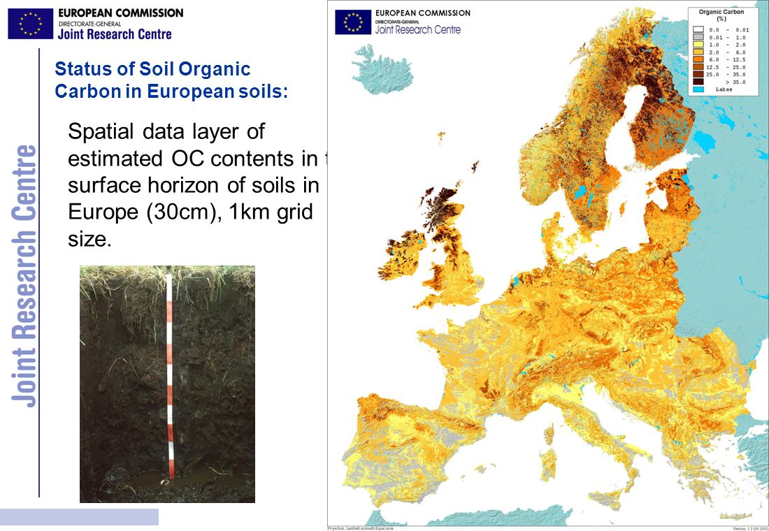 Status of Soil Organic Carbon in European soils: