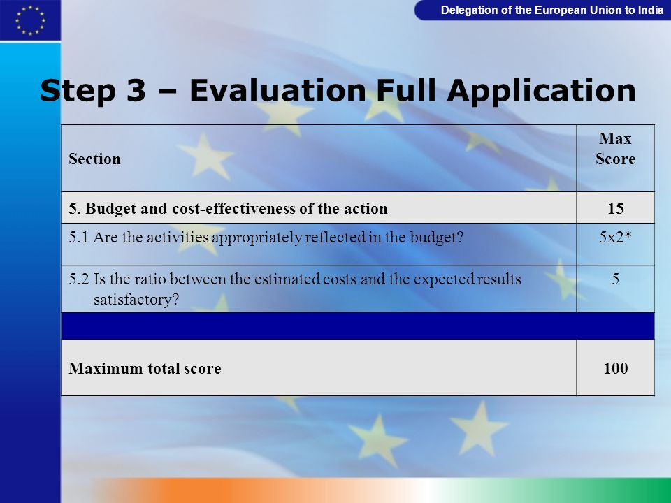 Step 3 – Evaluation Full Application