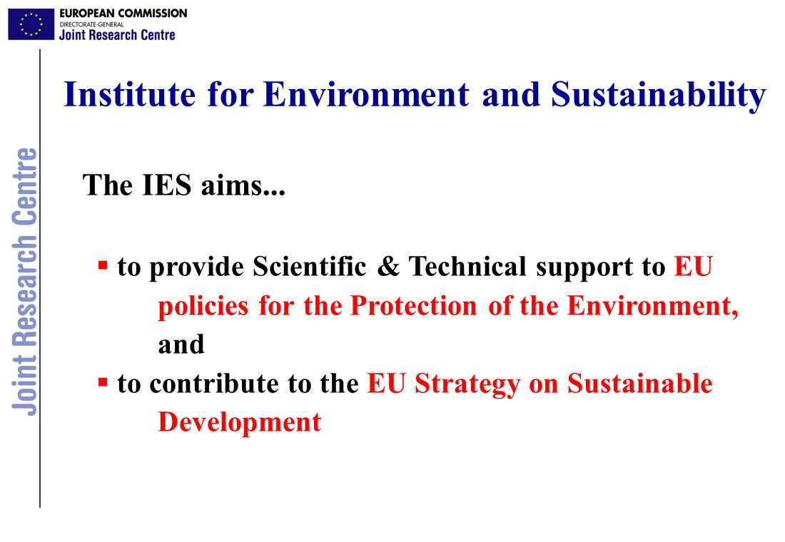 Institute for Environment and Sustainability