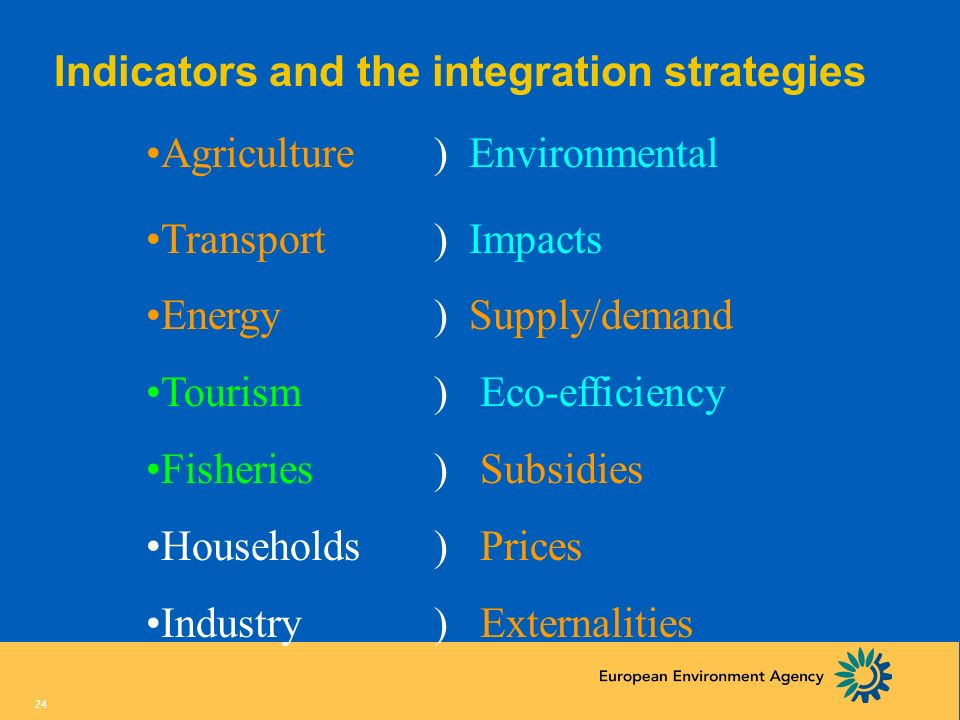 Indicators and the integration strategies