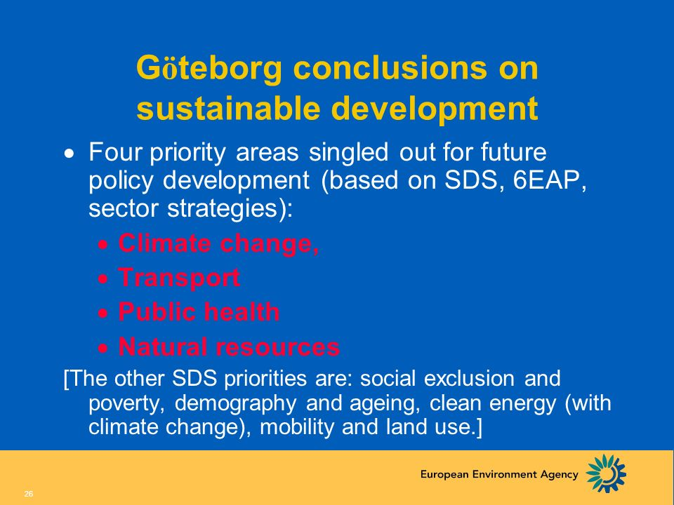 Göteborg conclusions on sustainable development