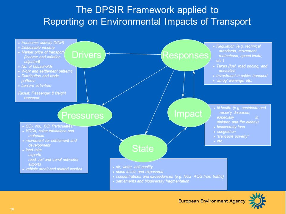 The DPSIR Framework applied to