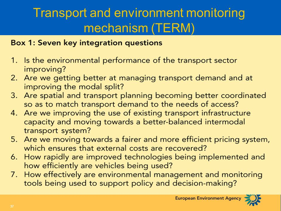 Transport and environment monitoring mechanism (TERM)