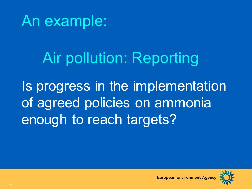 An example: Air pollution: Reporting