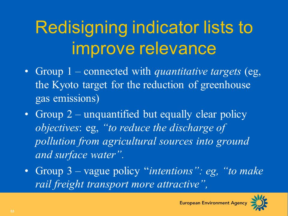Redisigning indicator lists to improve relevance