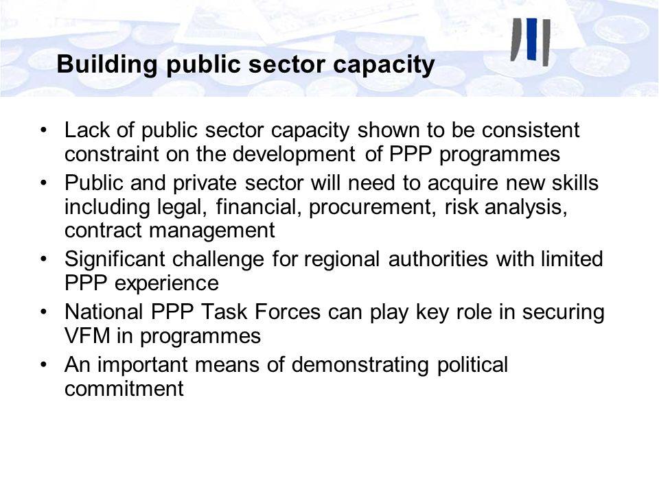 Building public sector capacity