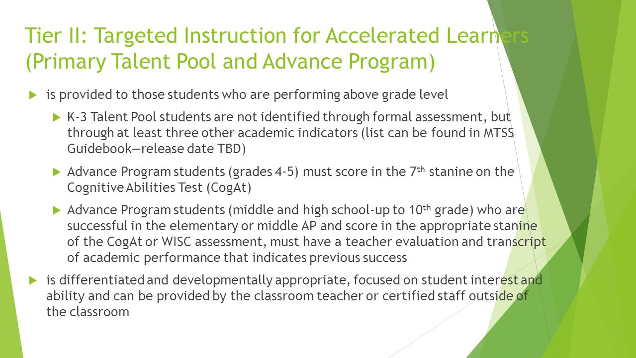 Jefferson county public schools ppt download tier ii targeted instruction for accelerated learners primary talent pool and advance program xflitez Gallery